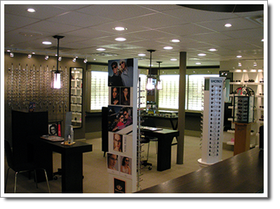 Warrenton Eye Doctors, Frame Display Area